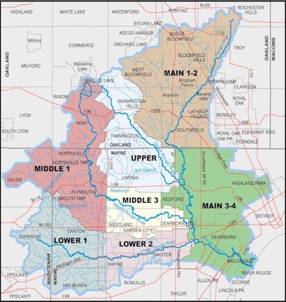 Rouge River Michigan Map.Alliance Of Rouge Communities